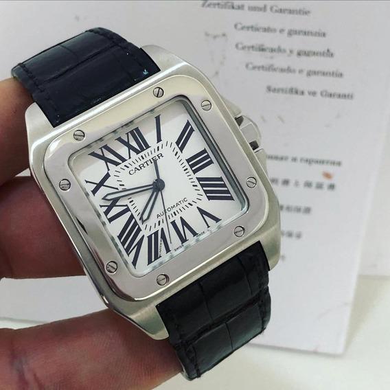 Cartier Santos 100 Xl Completo Novíssimo
