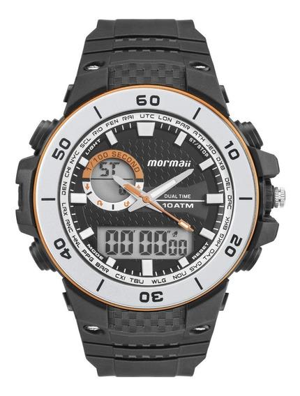 Relógio Masculino Mormaii Wave Moad9450aa/8m Borracha Preta