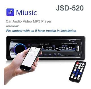 Car Stereo Radio 60wx4 Salida Bluetooth Fm Mp3
