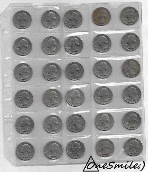 Onesmile:) 25 Monedas De 25 Centavos De Ee.uu En Hoja