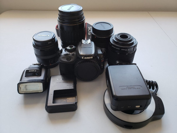 Câmera Cânon Eos Rebel Sl1 + Acessórios