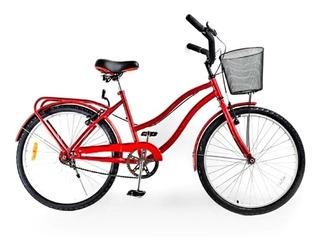 Bicicleta Paseo De Dama R 24 Necchi Cuestarriba + Regalo