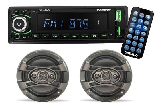 Daewoo Kit Auto Estereo Bocinas Bluetooth Usb Dw65 6207c /e