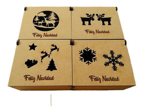 Imagen 1 de 5 de 10 Cajitas Recuerdo Navidad