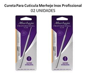 Cureta Para Cuticula Merheje Inox Profissional C/02unidades
