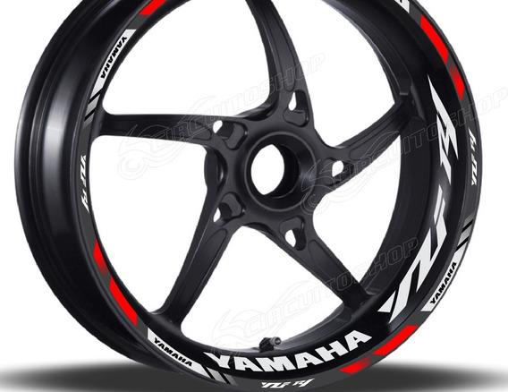 Friso + Adesivo Refletivo D2 Roda Moto Yamaha Yzf R1
