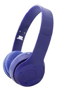 Netmak Auricular Vincha Plegable Bluetooth Azul Nm-palb