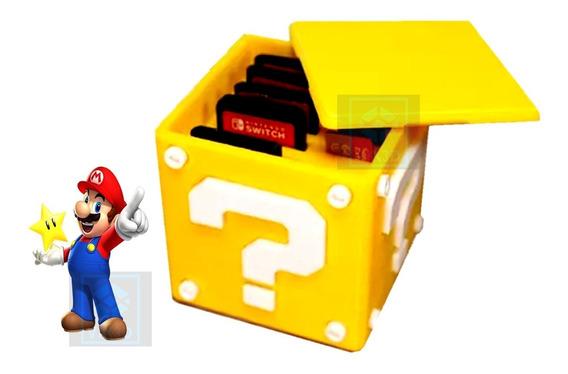 Caixa Super Mário Porta Cartucho Nintendo Switch Porta Jogos