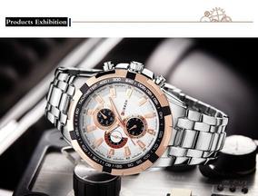 Relógio Curren Masculino Luxo Prova Dágua Quartzo Envio Rápi