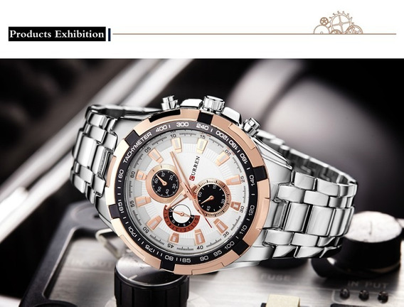 Relógio Curren Masculino Luxo Prova Dágua Quartzo