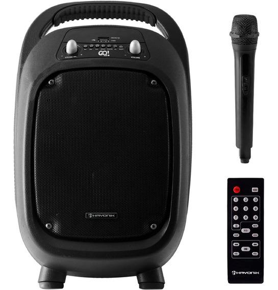 Caixa De Som Bluetooth Bateria Hayonik Go100 + Microfone