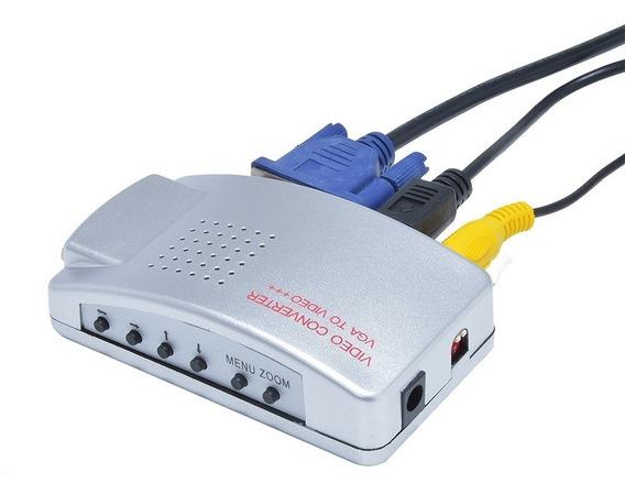 Conversor Vga Para Rca Alta Resolução Projetor E Pc Tv Box