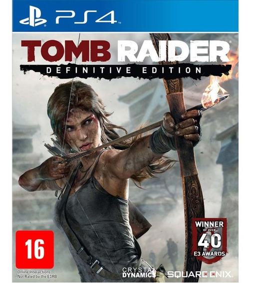 Tomb Raider Definitive Edition - Ps4 - Mídia Física - Novo