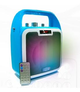 Parlante Multimedia Bluetooth-usb-bateria Recargable Leds
