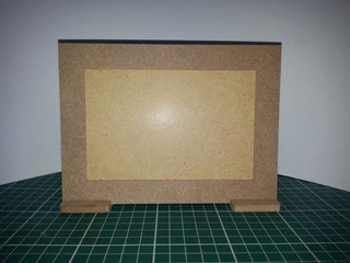 60 Porta Retrato Moldura Liso Foto 10x15 Cm Mdf De 6 Mm Cru