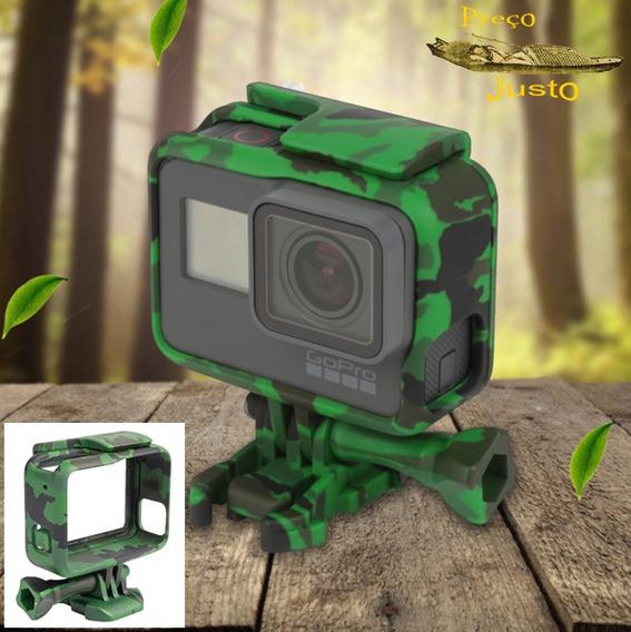 Capa Protetora Gopro Camuflada Exercito Gopro Hero 5 Verde