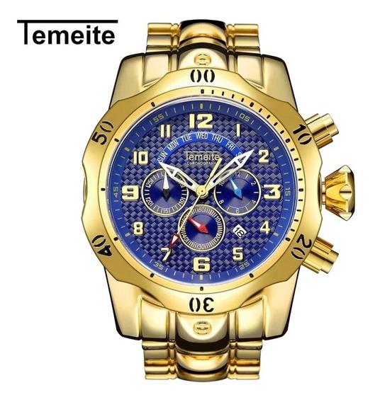 Relógio Masculino Temeite De Luxo Á Prova D