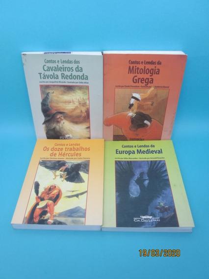 Coleção Contos E Lendas 4 Livros Mitologia Grega Europa M...