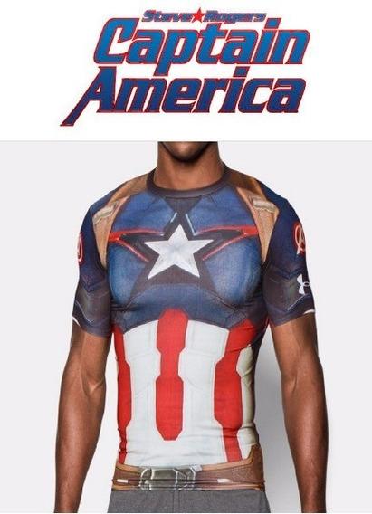 Playera Capitán América Marvel Avengers Under Armour
