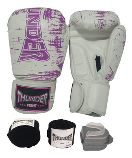 Luva 12oz Bandagem Bucal Muay Thai Boxe