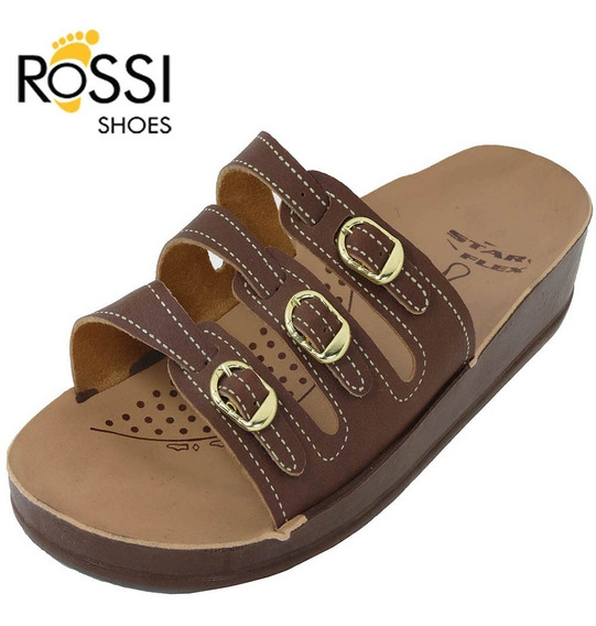 Chinelo Salto Anabela Rossi Shoes Ortopédico 5 Cores