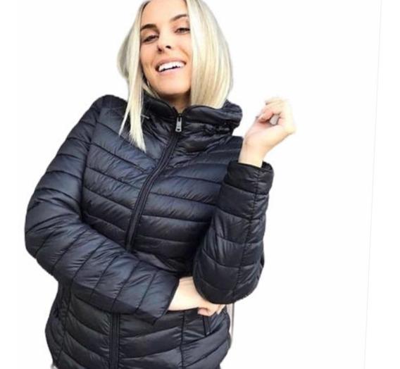 Jaqueta Feminina Nylon Capuz Importada Acolchoada Matelasse