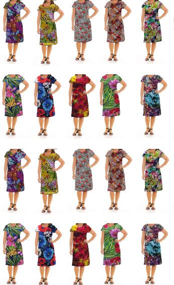 Kit Revenda Com 20 Vestido Feminino Sortidos Moda Evangélica