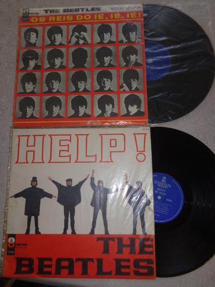 2 Lps Beatles Mono- Reis Iê Iê Iê E Help, Origin. Odeon