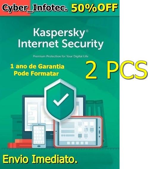 Kaspersky Internet Security- 2 Pcs -envio Imediato.