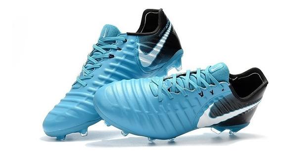 Chuteira Nike Tiempo Legend Vll Campo Blue Marinho Original:
