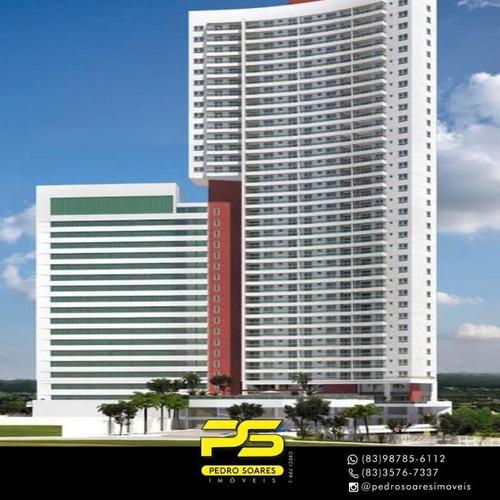 Apartamento Com 3 Dormitórios À Venda, 110 M² Por R$ 900.000 - Altiplano - João Pessoa/pb - Ap3617