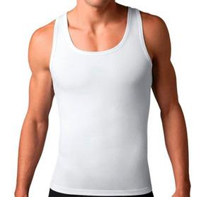 Camiseta Faja Hombre Moldea Figura Corrector Postura Blanca