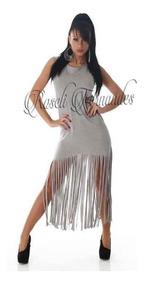 Vestido Feminino Franja Vestido Longo Roupas Femininas Moda