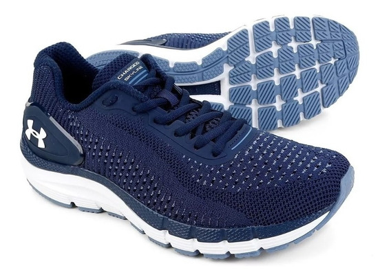 Tenis Under Armor Masculino Charged Skyline Azul/bco + Coque