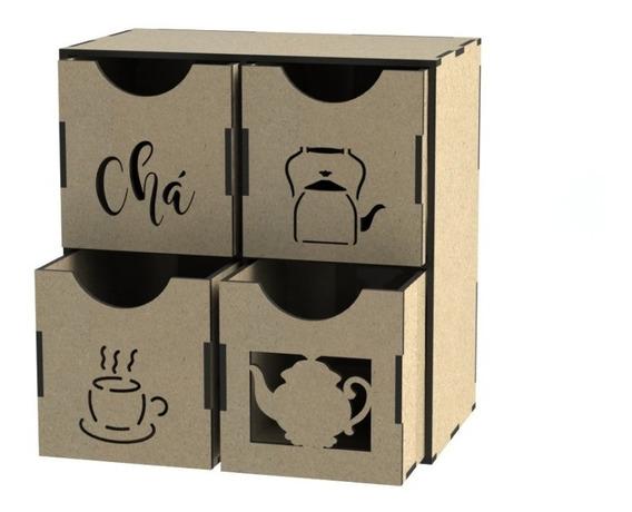 Caja Porta Té, Café, Mate Vector Corte Láser Modelo Único!