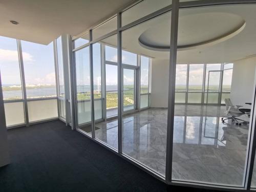 Imagen 1 de 30 de Oficina Penthouse Con La Mejor Vista En Todo Cancun! (ps07521)