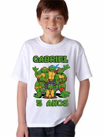 Camiseta Infantil Tartaruga Ninjas Tamanho A Escolher