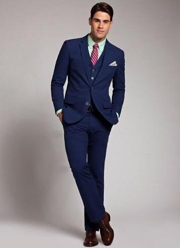 Terno Slim Oxford Promoção + Gravata Slim 3d