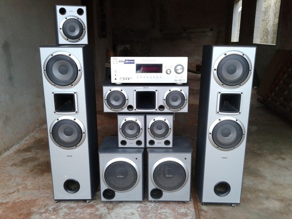 Home Theater Sony Mutec 5 Caixas De Som E Mais 2 Subwoofers.