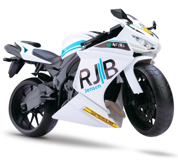 Moto Rodas Livres - Roma Racing Motorcycle - Branca - Roma J