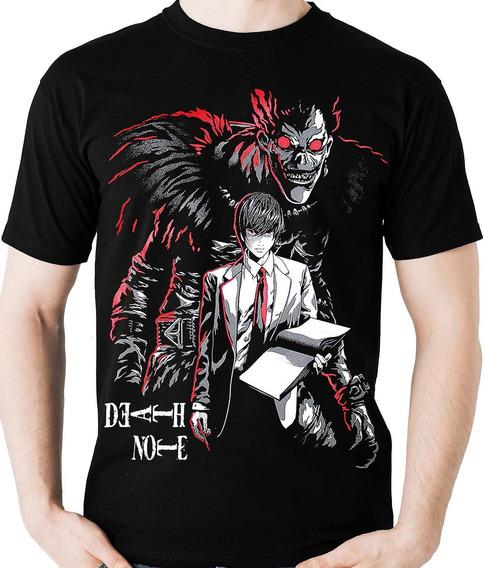 Camiseta Ryuuk E Kira Death Note (geek) Anime Camisa Blusa