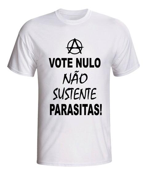 Camiseta Raul Seixas Voto Nulo Não Sustente Parasitas Camisa