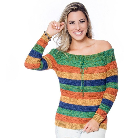 Blusa Feminina Love De Tricot Moda Evangélica Barata Inverno