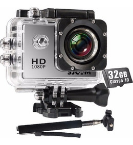 Sjcam Sj4000 Original Camera Full Hd+ Sd 32gb+ Bastao+ Visor