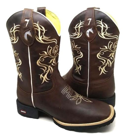 Texana Feminina Country Bota Botina+pulseira
