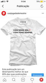 Camisa Personalizada Para Boleiro 100% Algodão Camiseta