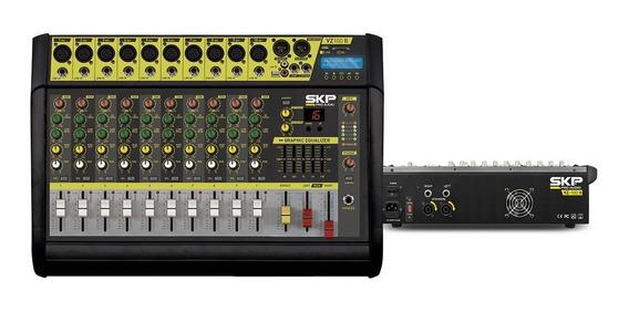Consola De Audio Potenciada Skp Vz100ii 10 Canales Graba!!!