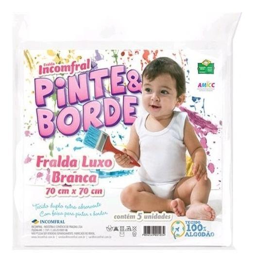50 Fraldas Pinte E Borde Incomfral 10 Pacotes C/ 5 Unidades