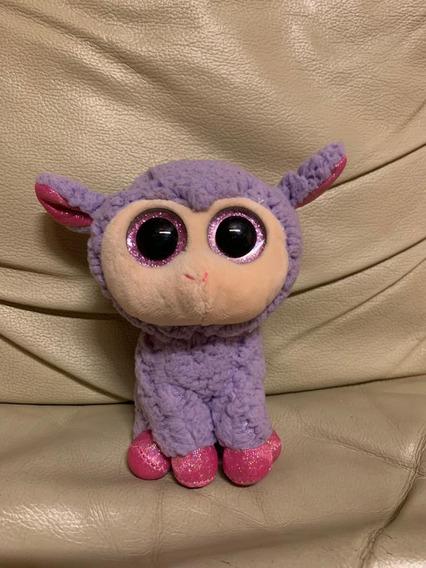 Pelucia Ty Beanie Boo Ovelha Lavender Usada Original