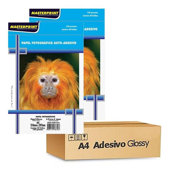 Papel Fotográfico Adesivo Masterprint A4 130 Gramas 200 Folh